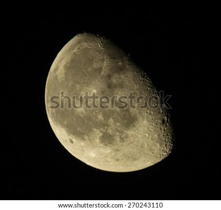 Moon at night - stock photo
