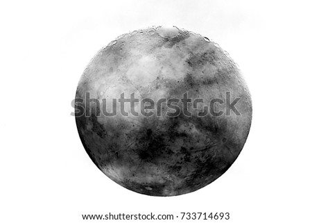 Moon background / The Moon is an astronomical body that orbits planet Earth, being Earth's only permanent natural satellite