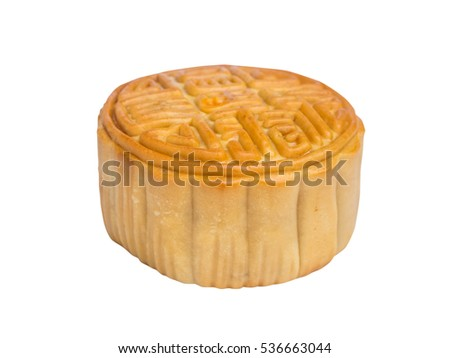 moon cake isolated on white background