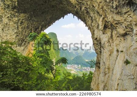 Moon Hill, China - stock photo