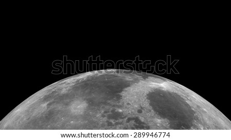Moon illustration. 3D render. Elements of this image furnished by NASA. - stock photo
