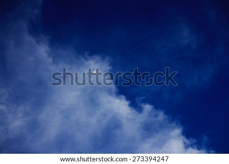 moon in a cloudy night blue sky. fantastic beautiful landscape