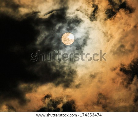 Moon in the night