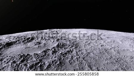 Moon landscape - stock photo