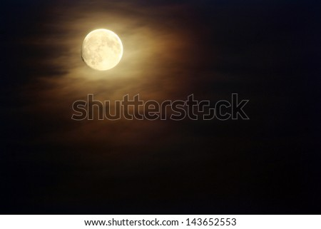 Moon on dark skies