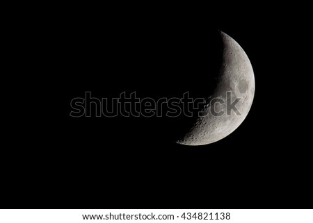 Moon photographed on June 10, 2016 - stock photo