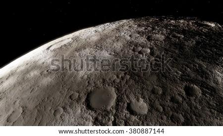Moon scientific illustration - stock photo