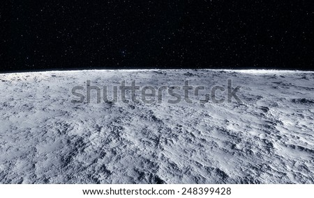 Moon surface - stock photo