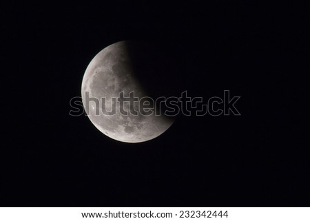 moon, total Lunar eclipse - stock photo
