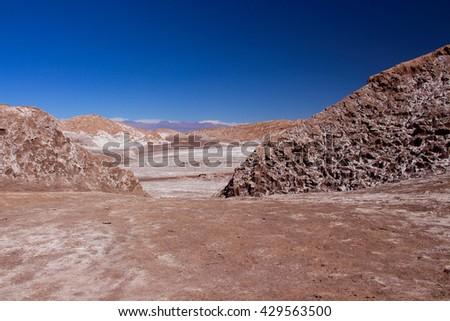 Moon Valley, Valle de La Luna, Atacama desert, Chile - stock photo