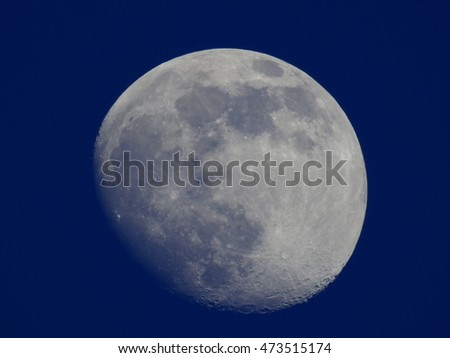 Moon with blue sky
