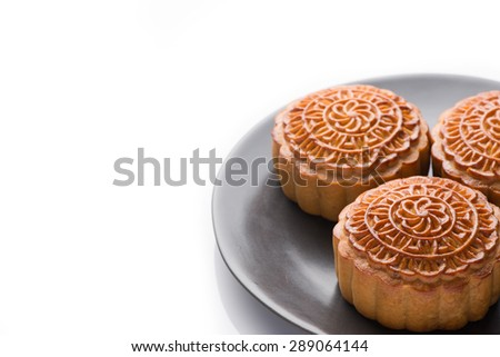 Mooncake and tea,food and drink for Chinese mid autumn festival. Moon cakes for the Chinese Mid-autumn festival - stock photo