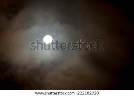 Moonlight, blood moon , october 2014 - stock photo