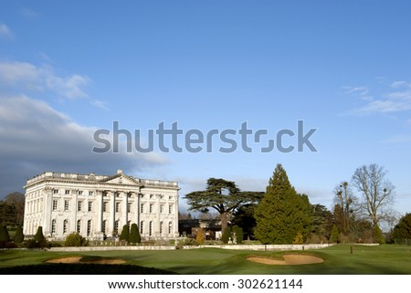 MOOR PARK MANSION HOUSE, RICKMANSWORTH, UK - MARCH 2012: Moor Park Mansion House and Golf Club