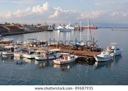 moorage in the port of Famagusta (Northern Cyprus)