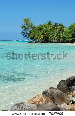 Moorea Lagoon - stock photo