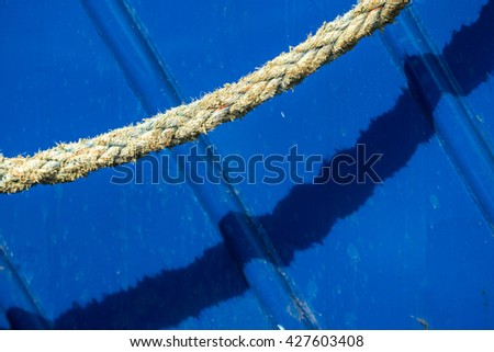 Mooring line of a trawler
