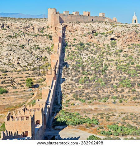 Moorish Castle in Almeria Province, Andalusia, Spain, Western Europe - stock photo