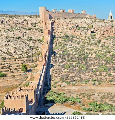 Moorish Castle in Almeria Province, Andalusia, Spain, Western Europe - stock photo