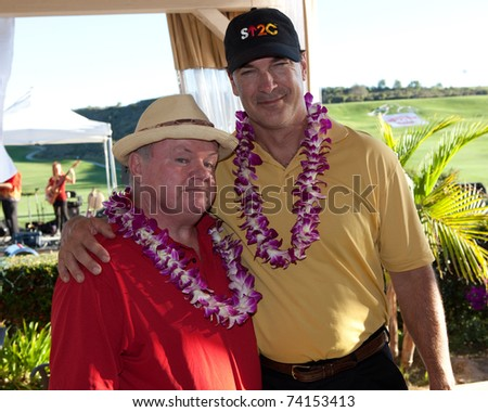 MOORPARK, CA - NOV 1: Jack McGee (L) & Patrick Warburton attends the 3rd Annual Scotty Medlock and Robby Krieger Celebrity Golf Invitational and Concert  on November 1, 2010 in Moorpark, CA