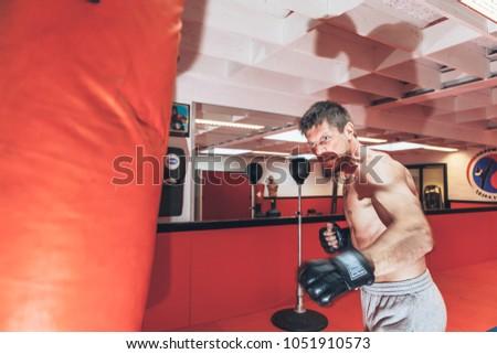 Moorsel, Aalst, Belgium -  October 13, 2012 - professional Belgian stuntman Olivier Bisback on training for the next movie