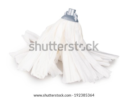 mop Isolated on white background - stock photo