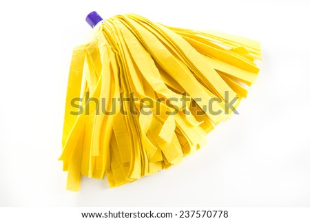 Mop on white isolated