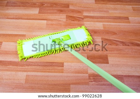 mop the floor washing - stock photo