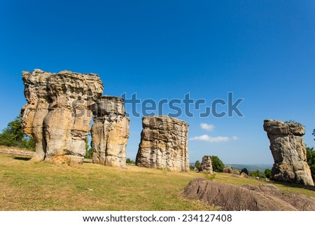Mor Hin Khao Chaiyaphum Stone Henge of Thailand  - stock photo