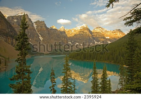 Moraine Lake at dawn
