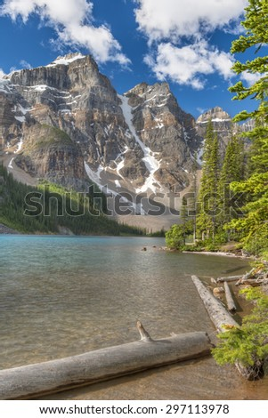 Moraine Lake in Banff National Park, Canada - stock photo