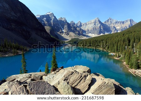 Moraine Lake in Banff national park in Alberta, Canada