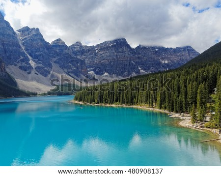 Moraine Lake in the Summer, Banff National Park, Alberta, Canada