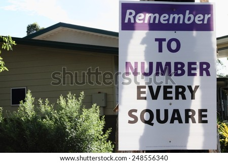 MORAYFIELD, AUSTRALIA - JANUARY 31: Queensland State Election Labor sign pro preferential voting on January 31, 2015 in Morayfield, Australia - stock photo