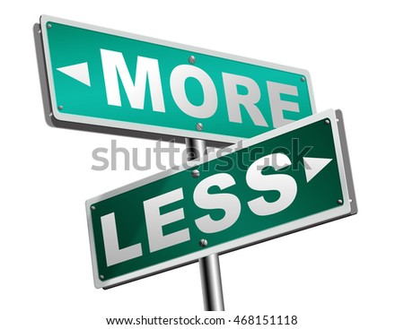 more less satisfaction being satisfied not enough always wanting extra keep it simple 3D illustration