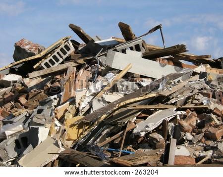 more rubble - stock photo