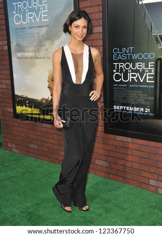 "Morena Baccarin at the premiere of ""Trouble With The Curve"" at the Mann Village Theatre, Westwood. September 19, 2012  Los Angeles, CA Picture: Paul Smith"