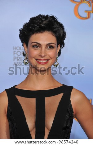 Morena Baccarin at the 69th Golden Globe Awards at the Beverly Hilton Hotel. January 15, 2012  Beverly Hills, CA Picture: Paul Smith / Featureflash - stock photo