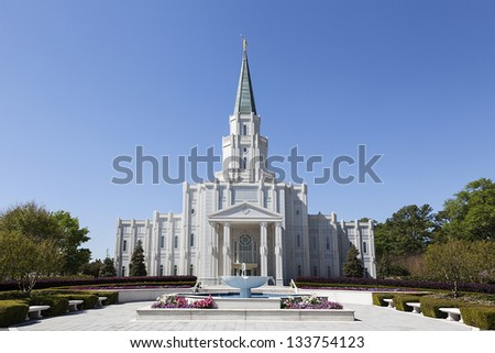 Mormon Temple - The Houston Texas Temple is the 97th operating temple of The Church of Jesus Christ of Latter-day Saints.