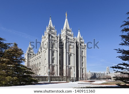Mormon Temple - The Salt Lake Temple in Utah is the 4th operating temple of The Church of Jesus Christ of Latter-day Saints.