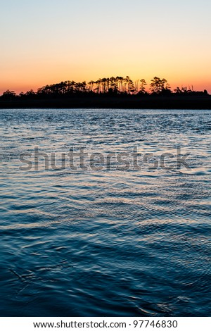Morning at Cape Charles Lighthouse - stock photo