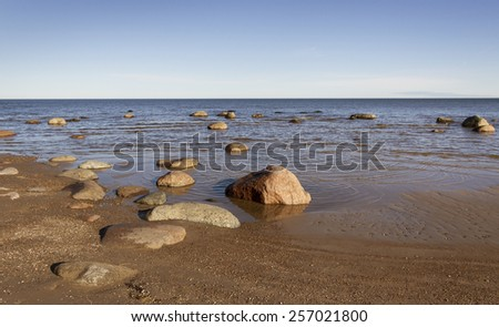 Morning at the Baltic sea. - stock photo