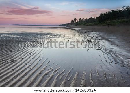 Morning beach at Donsol - stock photo