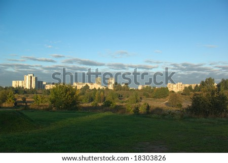 morning city landscape