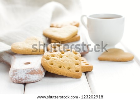 Morning coffee with cookies