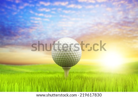 Morning golf - stock photo