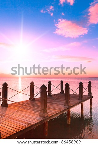 Morning Heaven Wooden Pier