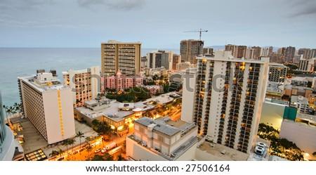 Morning in Honolulu - stock photo