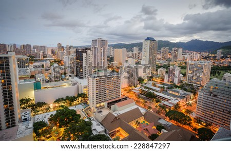 Morning in Honolulu Hawaii
