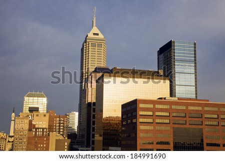 Morning in Indianapolis, Indiana, USA. - stock photo